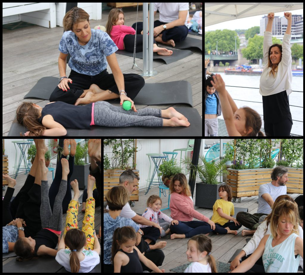 launch event on the boat yoga